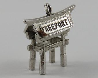 Freeport Torii Gate Sterling Silver Vintage Charm For Bracelet