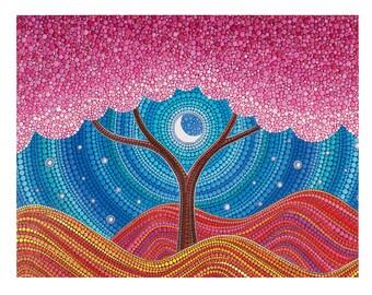 POSTCARD- Moonlit Blossoms by Elspeth McLean