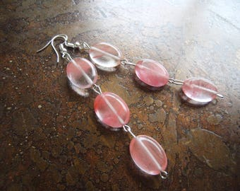 Rosy Rose Quartz Dangle earrings