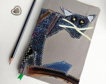 Cat journal notebook, Unique unlined handmade journal, Diary journal lover kind, custom Kitty Journal, Kitten Notebook, cat stationery gifts