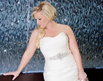 Cristal de mariée Sash, ceinture de strass, ceinture de mariage, guillotine, ceinture de mariée, mariage robe ceinture, ceinture de déclaration, Speckled
