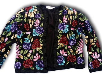 Vintage sequins and beads blazer