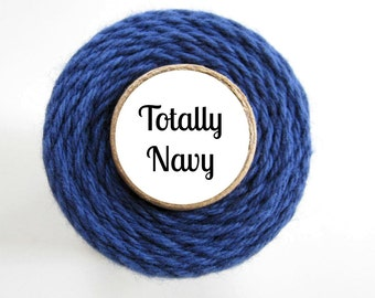 Solid Navy Blue Bakers Twine by Trendy Twine - Totally Navy