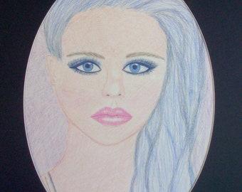 Chloe Moretz Colour Pencil Portrait