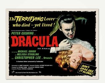 Dracula Movie Poster Print - Classic Horror Movie Poster Art