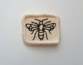 Baby Bee Patch Hand Embroidered Patch Insect Nature