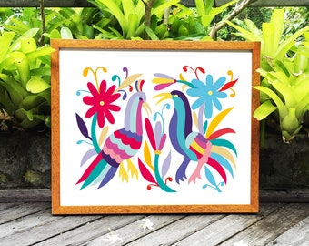 Otomi Mexico, Otomi indian, Otomi Home Decor, Mexican folk art paintings, Otomi indians, Otomi pattern, 8x10 in, 11x14 in, 16x20in