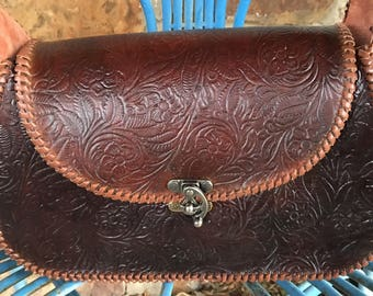 Conceal and carry leather purse