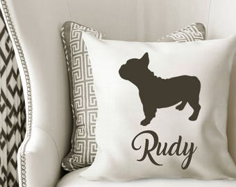 Personalized BOSTON TERRIER Pillow Cover