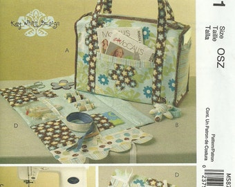 MCCALLS PATTERN M5871, sewing tote and organizers, new and uncut
