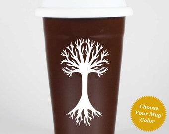 Tree Travel Mug w/ lid