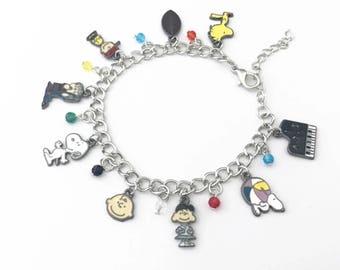 Charlie Brown / Snoopy inspired charm bracelet