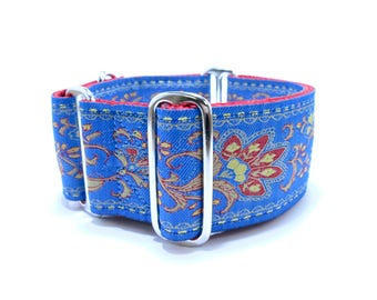 """Martingale or Buckle Dog Collar, Houndstown 2"""" Gingko Unlined Size Small, Medium, or Large"""