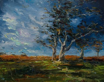 Landscape Painting, Tree Painting, Oil Painting