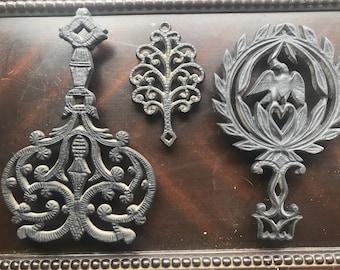 Vintage Cast Iron Trivets (set of 3)