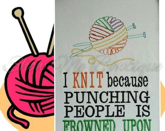 I KNIT because... design Instant Download