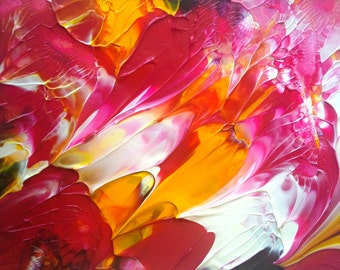 Summer Party Acrylic Abstract Painting