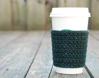 Teacher Gift - Crochet Coffee Sleeve - To Go Cup Sleeve - Reusable Coffee Sleeve - Coffee Lover Gift - Eco Friendly Gift - Coffee Cup Sleeve