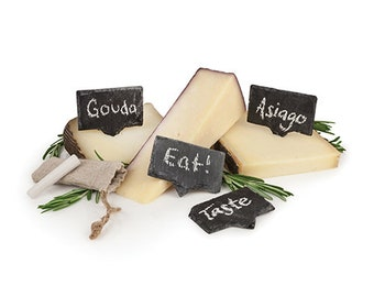 Rustic Farmhouse Slate Cheese Markers  / Fancy Food Markers / Food Signs