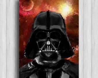 Darth Vader poster star wars painting darth vader decor star wars watercolor darth vader art