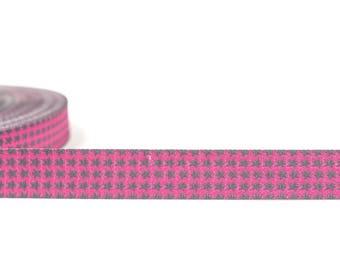 WebBand Staaars Pink-grey Farbenmix (1.60 EUR/meter)