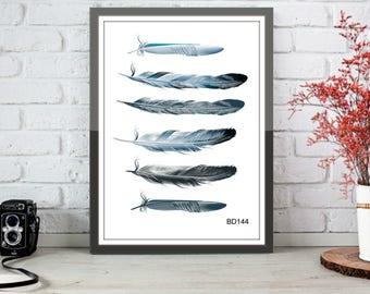 feather prints,set of feathers,digital prints,prints for the home,prints for the home,digital prints,colorful feathers