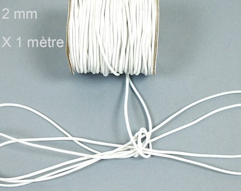 Covered with white elastic cord with 2 X 1 mm nylon thread meter