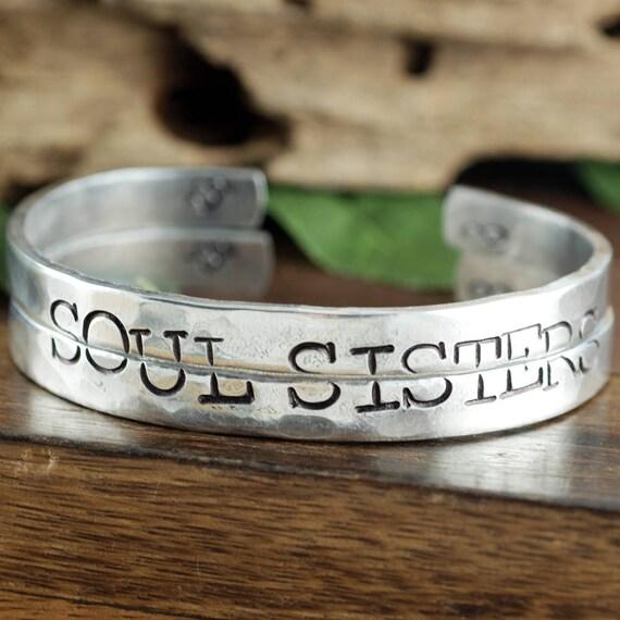 Soul Sisters Bracelets, Best Friends Jewelry, Sisters Jewelry, Best Friends Gift, BFF Jewelry, Soul Sister Gift, Soul Sister Bracelet Set