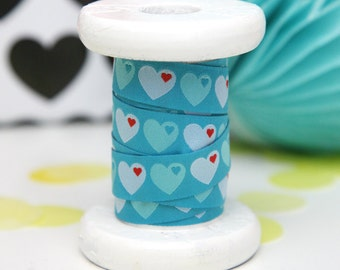 "Ribbon color mix ""byGraziela heart"" Turquoise"