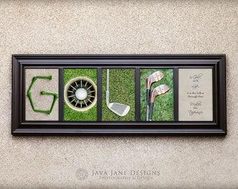 GOLF Letter Set | 4x6 Letter Prints | Unframed | Gift for Him | Stocking Stuffer | Secret Santa Gift | Gifts Under 10