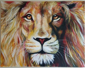 """Lion (Aslan) painting 