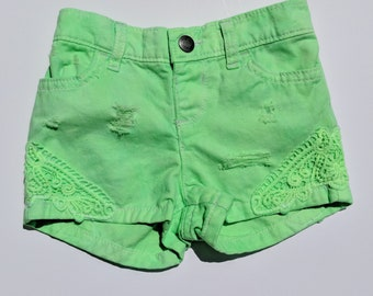 Neon Green Girl Shorts