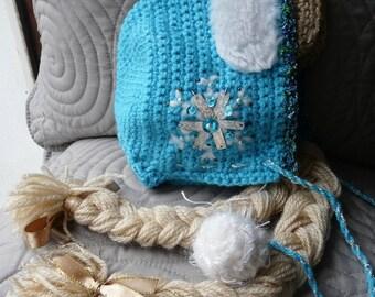 Baby crochet ice Queen Hat