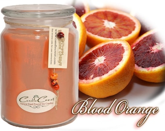 Blood Orange Candles, Scented Soy Candles , Candles, Natural Soy Wax Candles