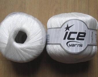 6 balls Ribbon nylon Magnifico white 45207