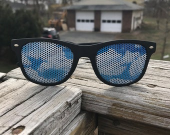 blye skies with clouds plastic Festival Graphic Wayfarer Sunglass Shades