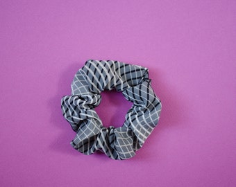 HOOPLEX SCRUNCHIE - Upcycled Textiles Hair Tie - Mini Circles made with Funky Colours