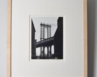 Manhattan Bridge. Brooklyn NY. Silver Gelatin Print. | Signed and Framed.