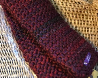 Wineberry scarf