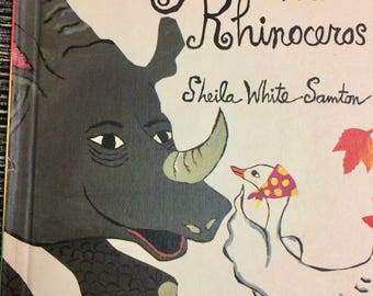 Tilly and the Rhinoceros Vintage Children's Book Sheila White Samton