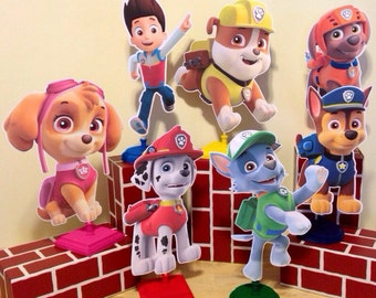 Paw Patrol 1 ft Centerpieces Qty:1 With Base