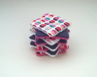 Purple set of 8 wipes for baby or MOM