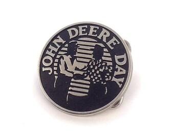 Steel John Deere Day 1990 Belt Buckle