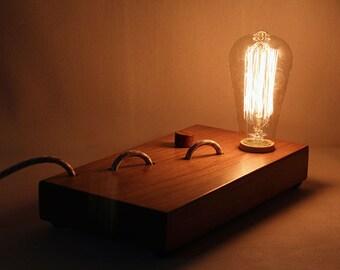Edison, wooden Edison lamp, desk lamp, table lamp, edison bulb, wooden lamp, gift, for him, for her, Birthday, Wedding, Shower, Anniversary