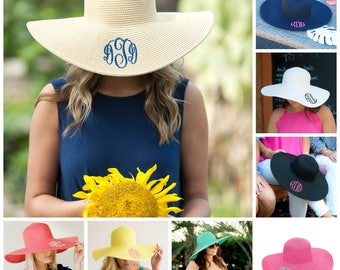 Summer Monogrammed Floppy Hats