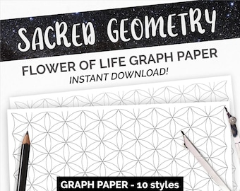 Graph Paper - Sacred Geometry Flower of Life Printable Paper Pattern