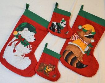 4pc Animal Stocking Set