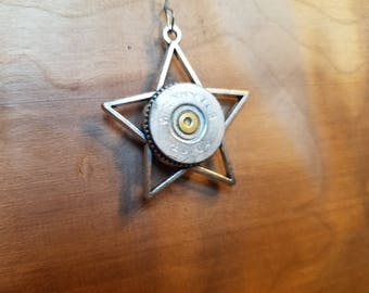Simple, star pendant made with spent ammunition!