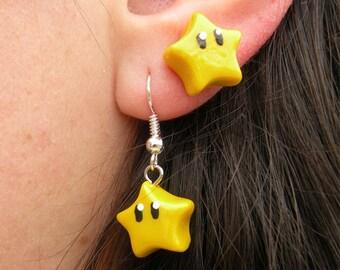 Super Mario Star Power Earrings