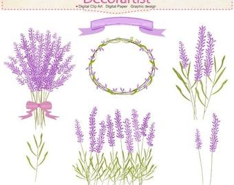 ON SALE Flowers clip art, Lavender clip art,frame clip art,lavender bouquet,label flowers clip art, INSTANT Download